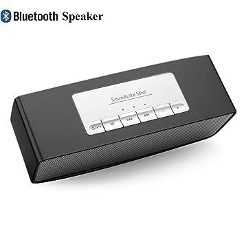 Rubility®S815 Altavoz inalámbrico portátil Mini Bluetooth Altavoces de gran alcance con la ayuda TF