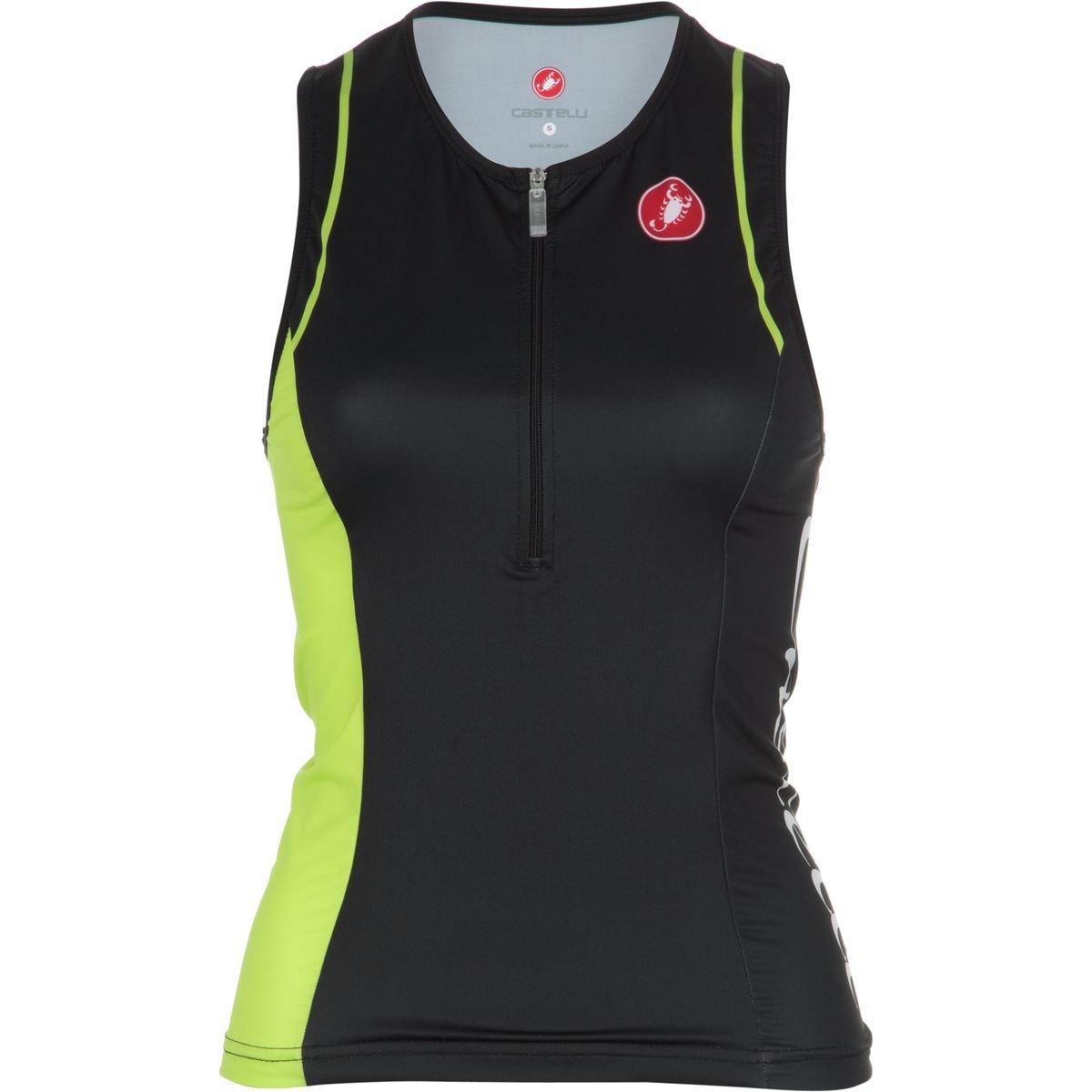 Castelli Core Tri Singlet - Women's Black/Lime, XL