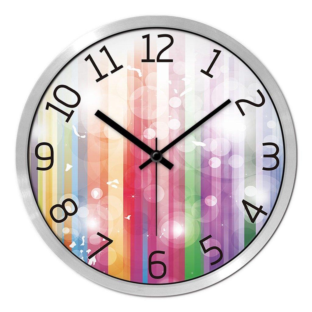 掛け時計 ウォールクロックファッションクリエイティブリビングルームベッドルームミュート現代時計クォーツ時計腕時計 Rollsnownow (色 : シルバー しるば゜, サイズ さいず : 12インチ) B07BK3BZ35 12インチ|シルバー しるば゜ シルバー しるば゜ 12インチ