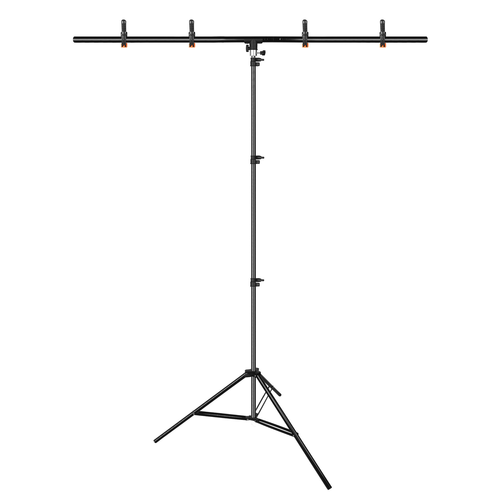 Emart T-Shape Portable Background Backdrop Support Stand Kit 5ft Wide 8.5ft Tall Adjustable Photo Backdrop Stand with 4 Spring Clamps by EMART