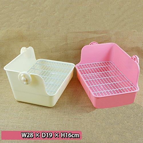 ZoeZ Square Potty Trainer Corner Litter Bedding Box Pet Pan for Small Animal/rabbit/guinea Pig/galesaur/ferret by ZoeZ (Image #2)