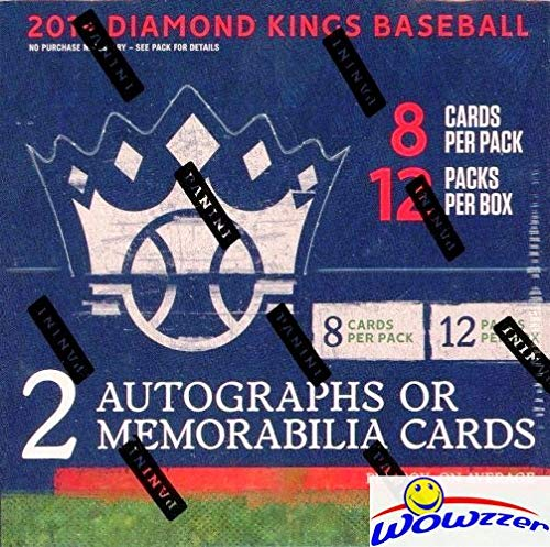 2019 Panini Diamond Kings Baseball HUGE Factory Sealed HOBBY Box with AUTOGRAPH & MEMORABILIA,3 Framed Parallel, Artist Proof & 12 Inserts! Look for Autos of Vlad Jr, Judge, Vin Scully & More! WOWZZER