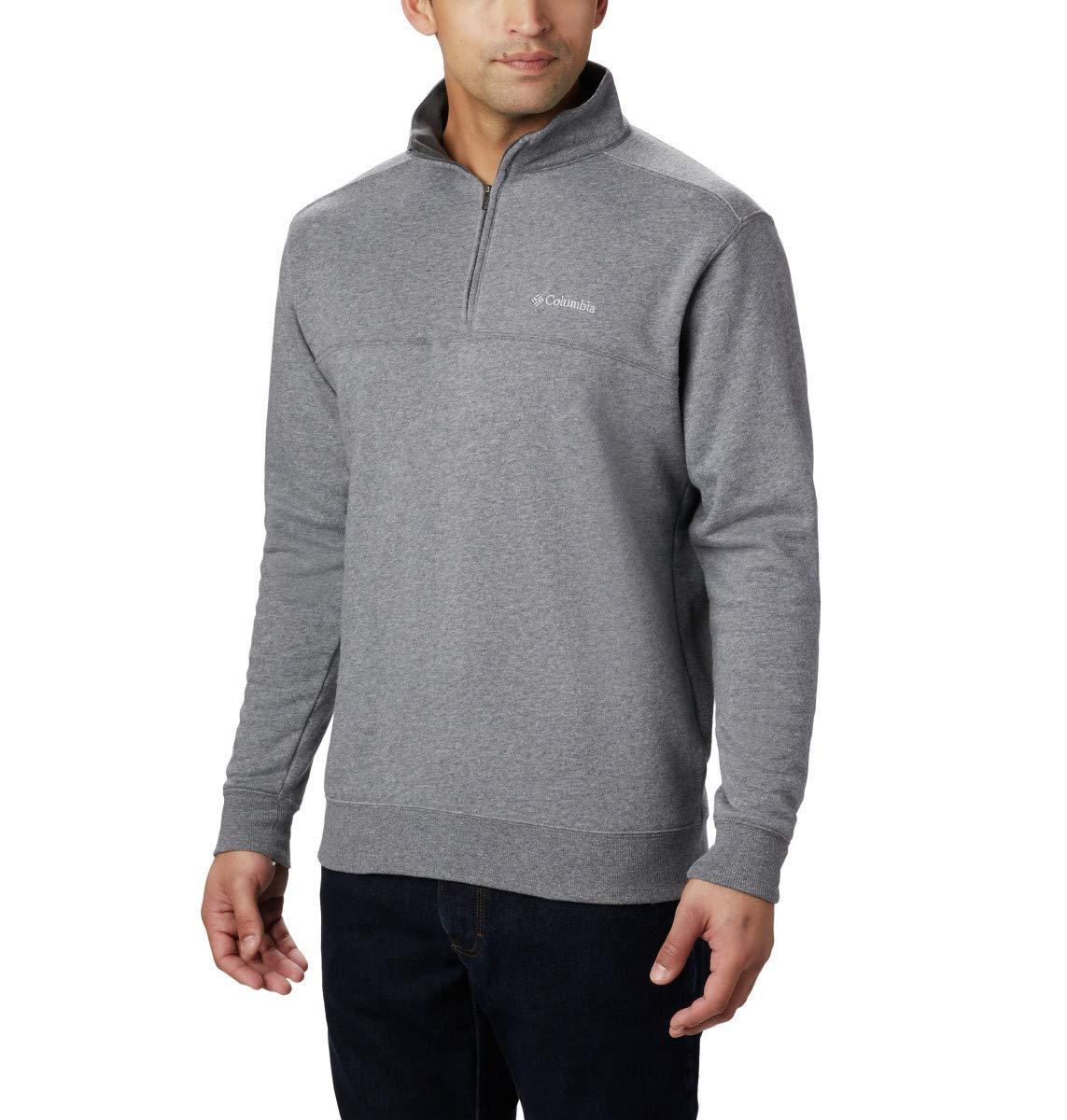 Columbia Men's Hart II Half-Zip Jacket, Charcoal Heather, Small by Columbia