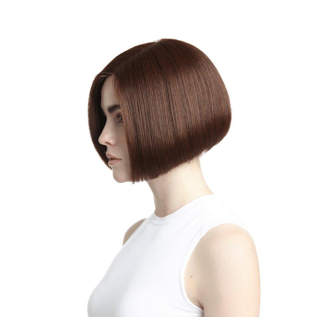 Peluca Peluca de pelo corto y recto de Europa y América Mujeres naturales de moda Fluffy de alta calidad Pelucas: Amazon.es: Belleza