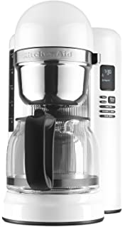 amazon com kitchenaid kcm0802ob pour over coffee brewer onyx kitchenaid kcm1204wh 12 cup coffee maker one touch brewing white