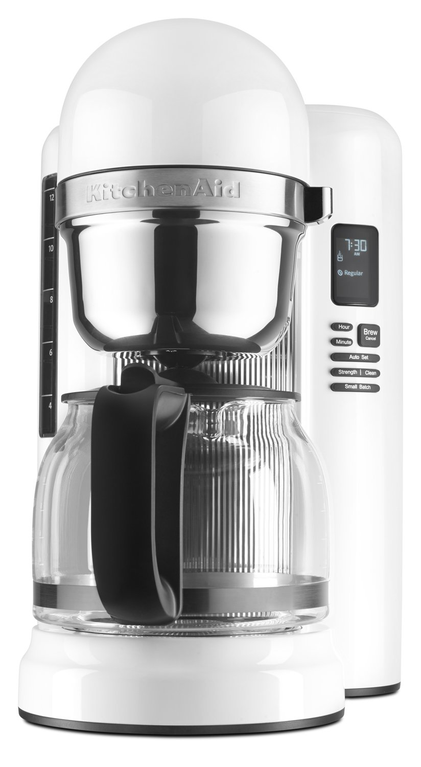KitchenAid KCM1204WH 12-Cup Coffee Maker with One Touch Brewing - White by KitchenAid