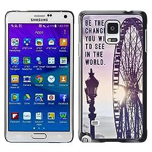 Dragon Case - FOR Samsung Galaxy Note 4 - change you wish to see - Caja protectora de pl??stico duro de la cubierta Dise?¡Ào Slim Fit