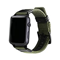 Replacement Watch Band Military Strap, 38mm 42mm Nylon Strap ArmyGreen