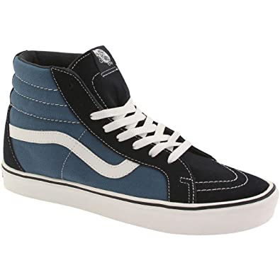 4845c485c4 Vans Men Sk8-Hi Lite + Suede Canvas (Navy White)