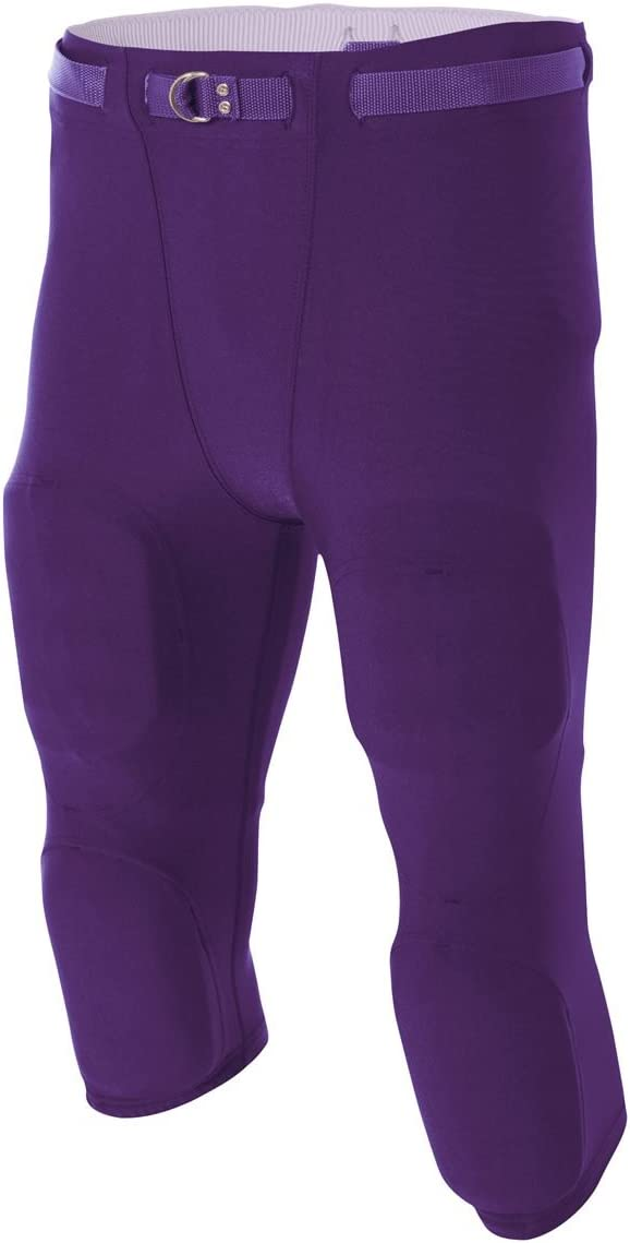 A4 Sportswear Football Flyless Super Tough Moisture Wicking with Built-in Pad Holders (12 Colors in 7 Adult Sizes)