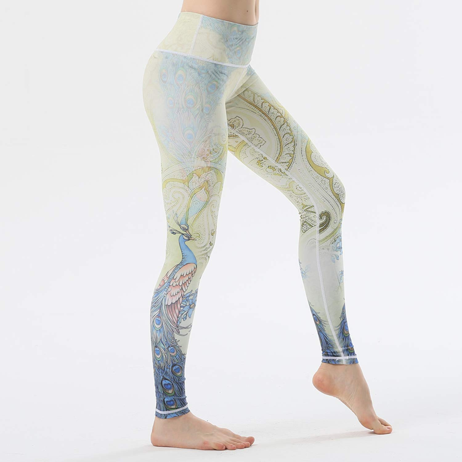 Amazon.com: Yoga Step on Foot Fit Sport Pants Elastic ...