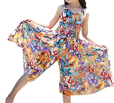 Taiycyxgan Girls Bohemia Dress Summer Butterfly Wide Leg Pants Jumpsuits Butterfly 160
