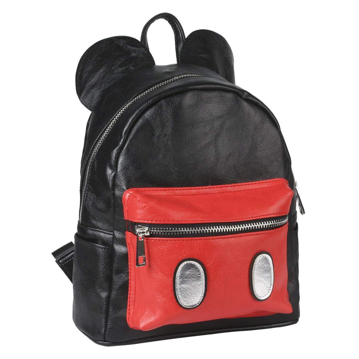 Cerdáバックパックファッションミッキーカジュアルデイパック、25 cm、ブラック(ブラック)   B07JGP747N