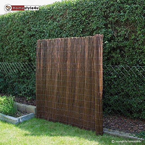 Homestyle4u Sichtschutz Sichtschutzmatte Weidenmatte Weidenzaun Gartenzaun Windschutz 200 cm x 150 cm
