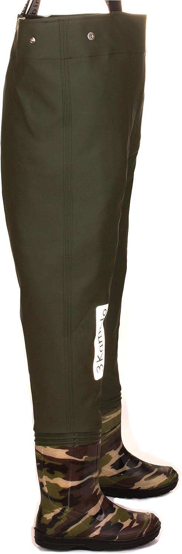 Tirantes duraderos Botas de Pesca 10 Modelos 20-35 EU Cintura Ajustable Hebilla FixLock Nexus 3Kamido/® NI/ÑOS vadeadores de Pesca Infantiles para j/óvenes
