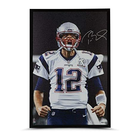 the latest bea34 d12d8 Tom Brady Signed Autographed Framed 36X24 Canvas Photo Up ...