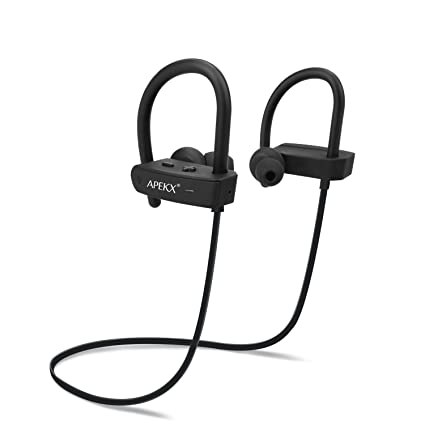 f375e154c13 Amazon.com: APEKX Bluetooth Headphones, Wireless in-Ear Earbuds, HiFi  Stereo Bass Sports Headset, IPX7 Waterproof Earphone for Running: Home  Audio & Theater