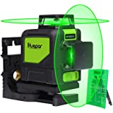 Huepar Green Self-Leveling Laser Level 2X 360-Degree Cross Line Laser Level with Pulse Mode, Switchable Horizontal and…