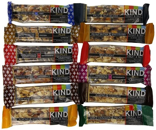 Kind Bars Variety Pack, 12 Different Flavors, 1.4oz bars
