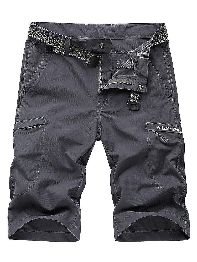 Mesinsefra Men's Outdoor Expandable Waist Lightweight Quick Dry Shorts
