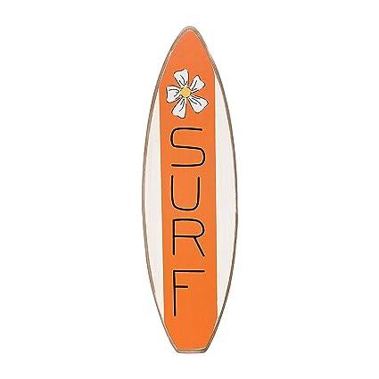 Tablas de surf – naranja con flores – de madera de envejecido Seaside Playa Decoración De