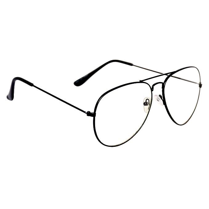 948017758d Aligatorr Unisex Aviator Sunglasses Black Frame (White