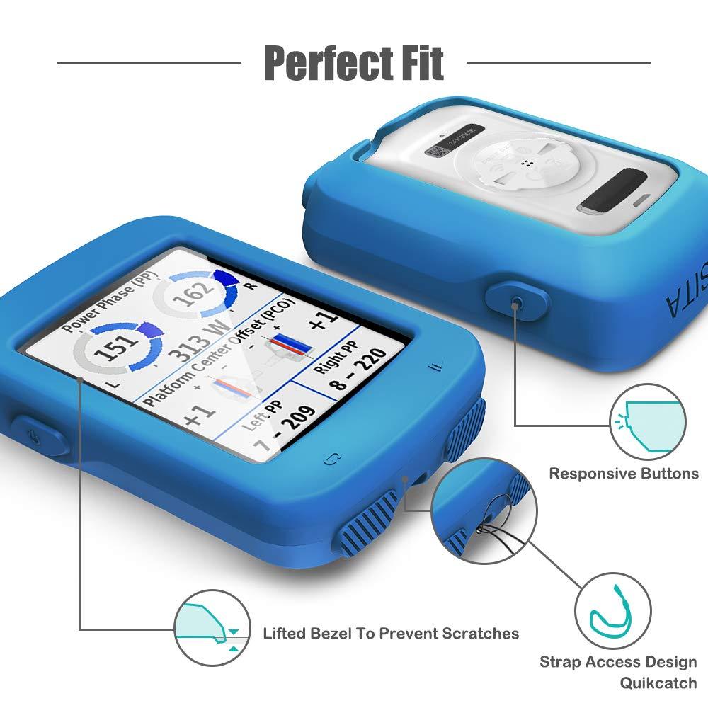 GPS Bike Computer Accessories Silicone Protective Cover TUSITA Case for Garmin Edge Explore 820