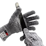 LattoGe Update Cut Resistant Gloves - With Hang Rope, Food Grade, Level 5 Protection, Kitchen Hand Safety Gloves (Large)