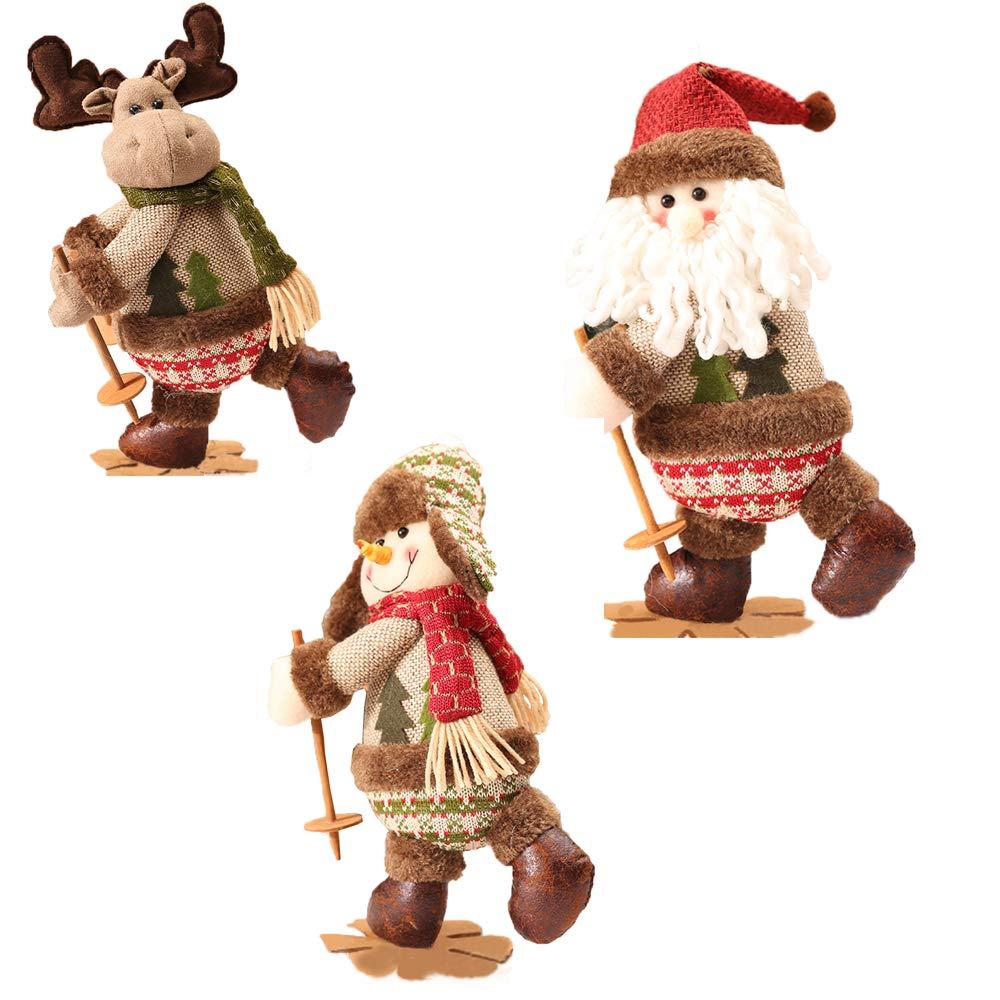 Bambole di Natale,Retro Christmas Ski Doll,Decorazione della Finestra, Regalo di Natale
