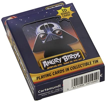 Amazon.com: Angry Birds Star Wars Playing Cards In Metal Tin ...