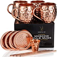 Moscow Mule Kupferbecher: 4er Set