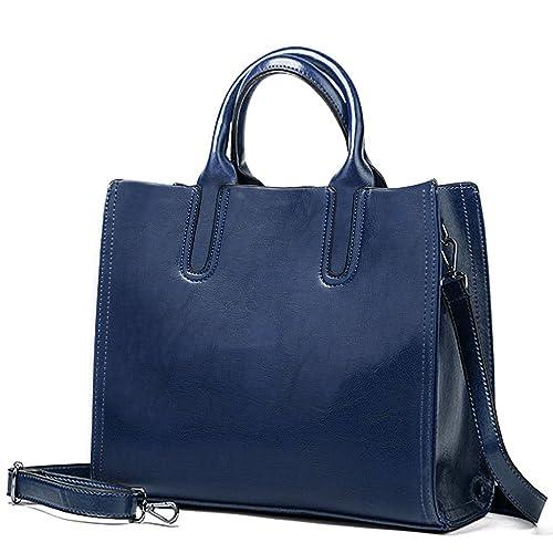 c13598757b Aburnudrey Sac à Main Femme Sac Bandoulière Femme Cabas, Bleu ...