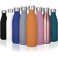 king do way Doppelwandige Edelstahl Trinkflasche Thermosflasche Sportflasche, Trinkflaschen Wasserflasche Reisebecher 500 ml frei für Trinkflasche Kinder, Camping, Wandern, Reisen