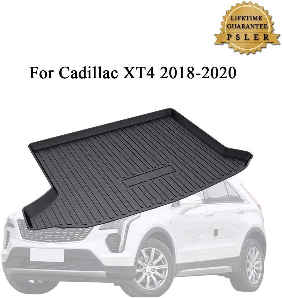 for 2017 2018 2019 2020 Cadillac XT5 SUV All Weather Heavy Duty Full Coverage Floor Mat Floor Protection Made in USA Front and Rear Black Single Layer Custom Fit