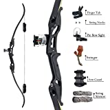 """SinoArt 56"""" Recurve Bow with 30"""" Max Draw 30 35 40 45 50lb Draw Weight Right Hand Outdoor Hunting Bows&Arrows Archery…"""