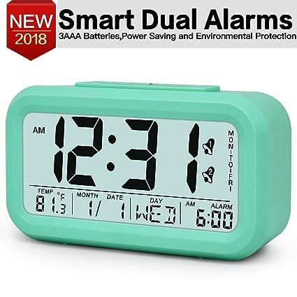 Charmant TXL Large Digital Alarm Clock LCD Student Electronic Clock Snooze Sensor  Kids Table Clock Bedroom Clock