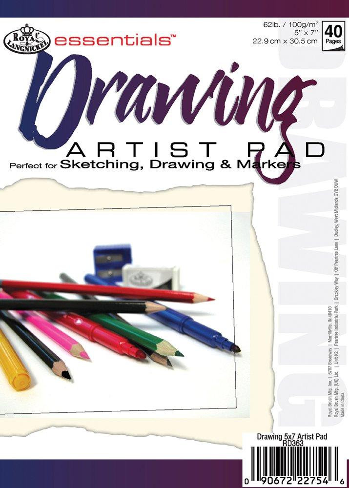 Essentials Drawing Artist Paper Pad 5'X7'-40 Sheets