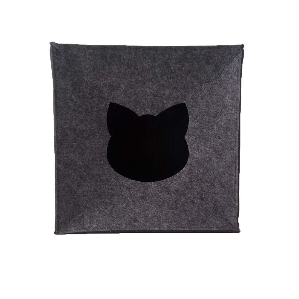 Merlinae - Cubo de Fieltro para Gatos Grandes y pequeños, 33 x 33 x 33 cm: Amazon.es: Productos para mascotas
