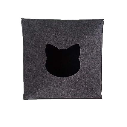 Merlinae - Cubo de Fieltro para Gatos Grandes y pequeños, 33 ...