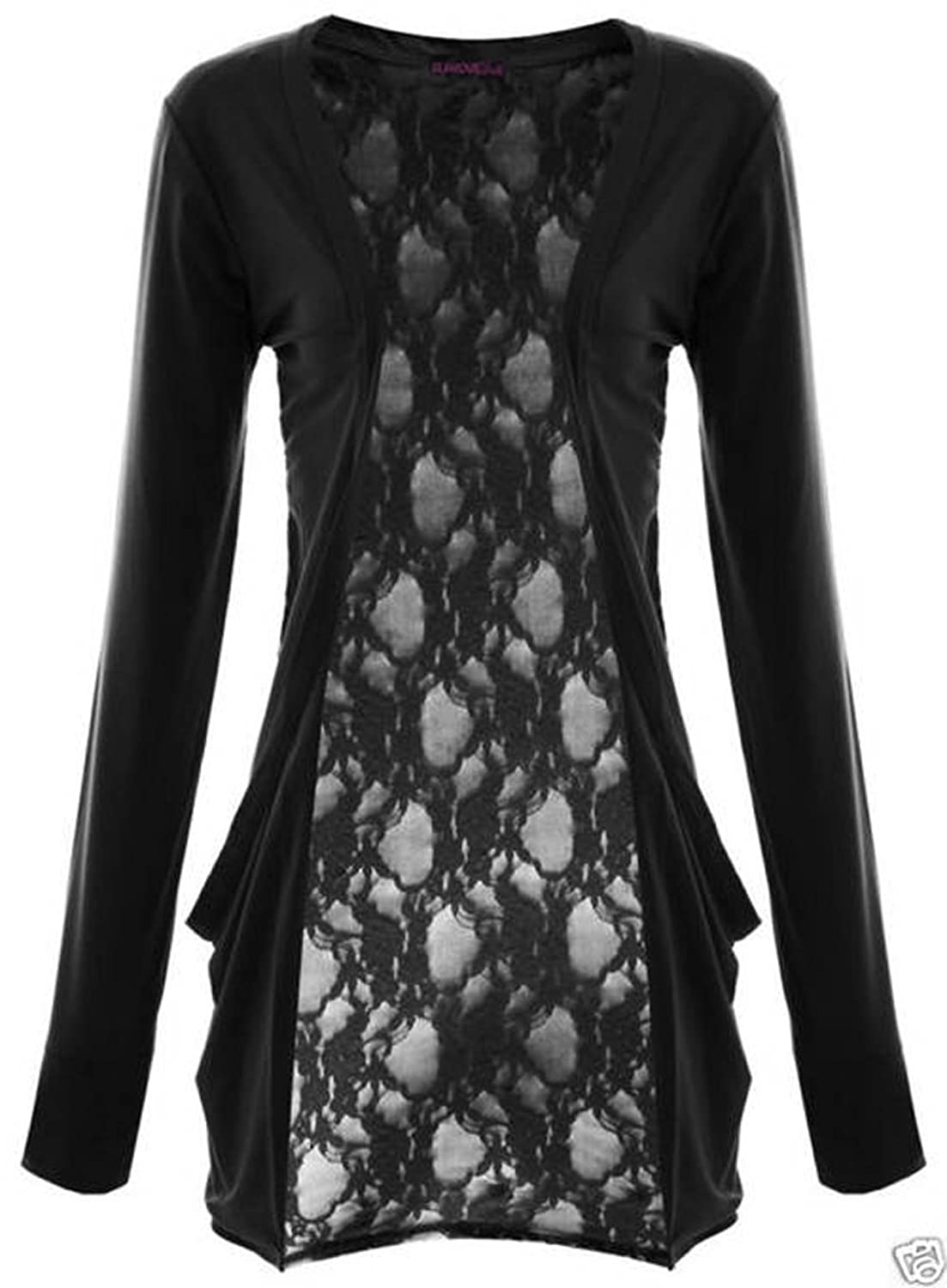 Fashion Victim, Ladies Long Sleeve Lace Back Boyfriend Cardigan ...