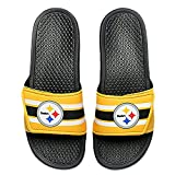 FOCO NFL Pittsburgh Steelers Mens Legacy Velcro Sport Slide- Team Color, Small