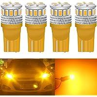 Qoope - Pack of 4 - Super Bright T10 2825 168 LED Bulb, 194 Bulb, 194 led Bulb Amber, 194 led Replacement, 7th…