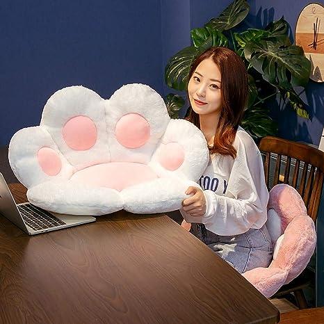 Cute Cat Paw Plush Chair Cushion Stuffed Plush Seat Cushion Sofa Back Pillow 1PC