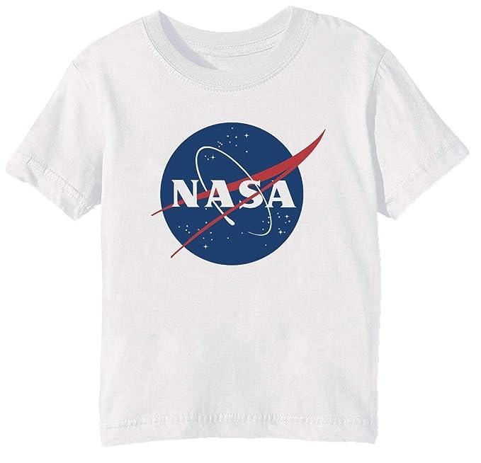 d60501607 NASA Niños Unisexo Niño Niña Camiseta Cuello Redondo Blanco Manga Corta  Tamaño 3XS Kids Boys Girls