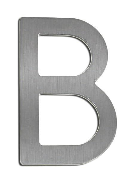 Número de casa letras B acero inoxidable 100 mm de ...