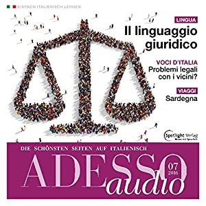 ADESSO audio - Il linguaggio giuridico. 7/2016 Hörbuch