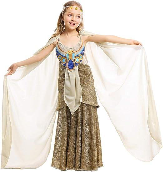 TIESALUONI Vestido de la Princesa niñas, el Antiguo Egipto Traje ...