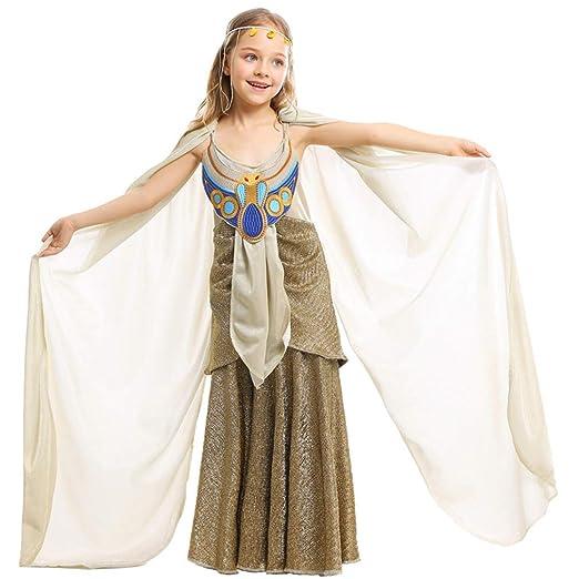 TIESALUONI Vestido de la Princesa niñas, el Antiguo Egipto ...