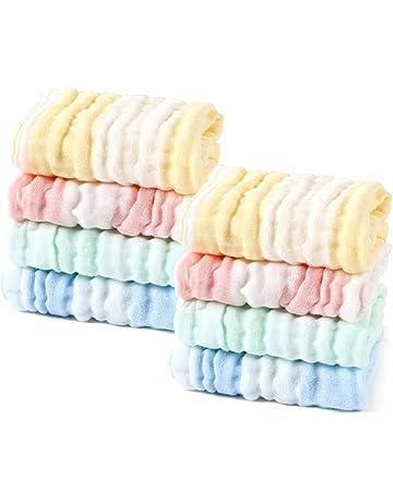 LIUNIAN 8 PACKS Toallitas para bebé de muselina, Toallitas de algodón 100% naturales para