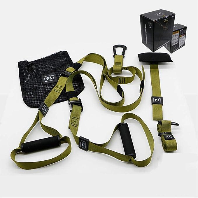 Kit de Correas de Resistencia de Peso Corporal, Entrenamientos de Gimnasio Profesional para Interiores, Viajes y al Aire Libre. Construir músculo ...